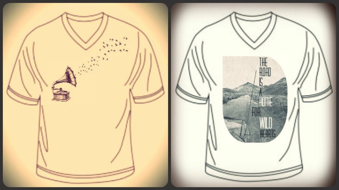 """Whetherman """"Gramophone"""" and """"Road is a Home"""" T-Shirts"""