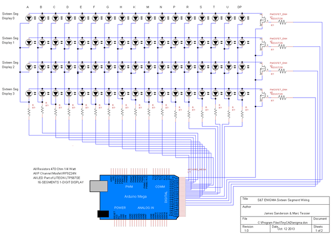 16Segment Display Schematic