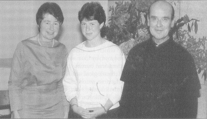 The Thornton family: Monica, Magdalen, and Martin (1985)