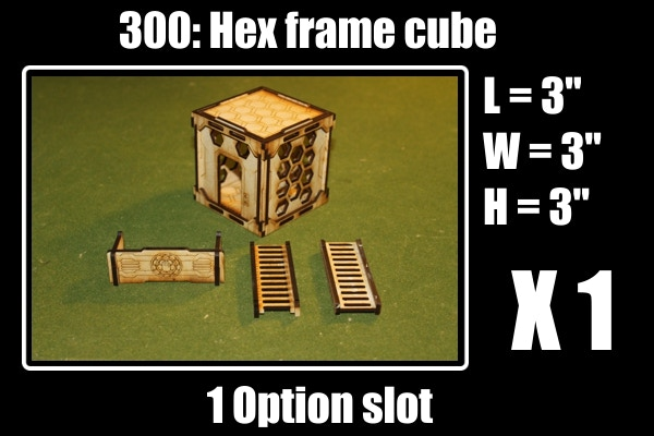 1 slot gets you: 1 hex cube, 2 ladders and 1 barricade