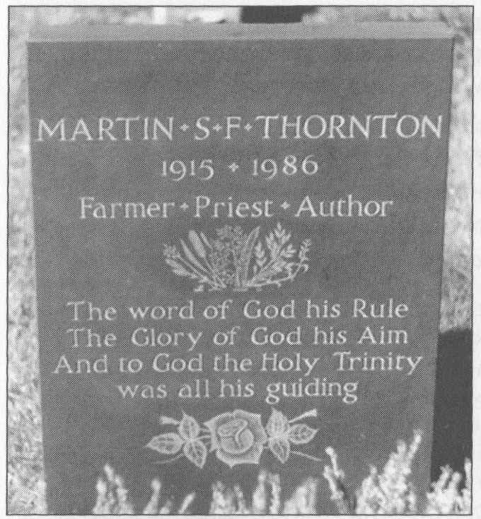 Thornton's gravestone in Crewkerne, England.