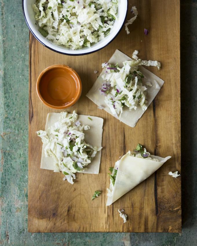Momos, dumplings from Bhutan/Nepal, by Between Meals cook, Pranita. (Photograph by Victoria Wall Harris)