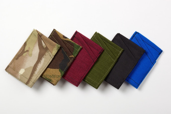 The wallet will be available in Multicam, DPM (a green camo), Red, Blue, Black and Olive Green - we may be able to do other colours dependant on demand - you can email us to ask about possible variants
