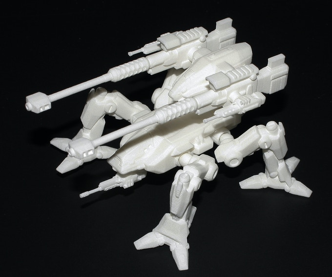 3d printed Orthrus Mech no color
