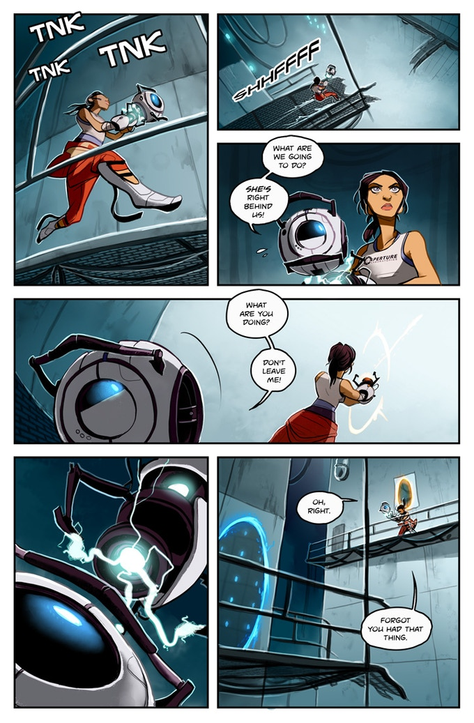 Chell and Wheatley Story Concept