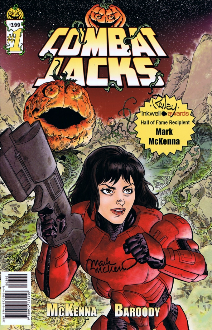 Combat Jacks #1 retail edition (signed by cover artists Tom Raney and Mark McKenna).