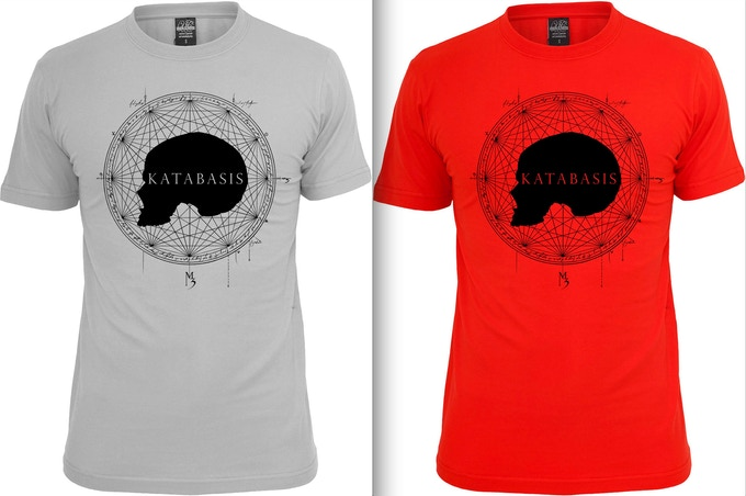 Katabasis t-shirts in grey or red
