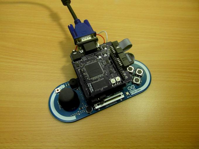 Arduino Esplora + GFX Shield + UI Shield for Esplora