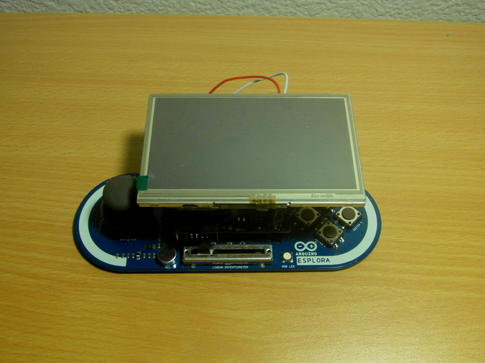 Arduino Esplora + UI Shield + Gameduino