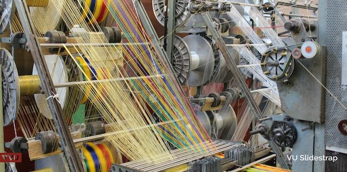 Visiting the webbing manufacturer