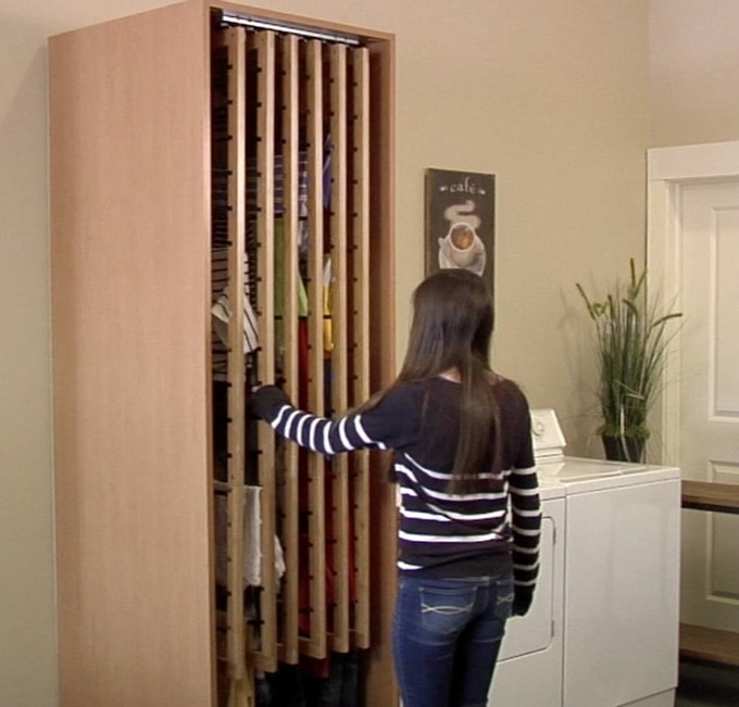 """6 frame DryAway in a custom cabinet (24""""W x 29""""D x 89""""H). Cabinet sold separately."""