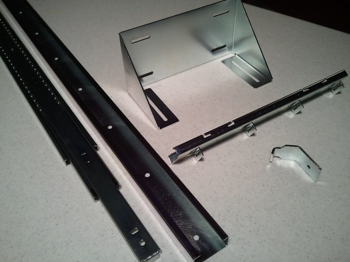 Slider and metal fabricated parts.
