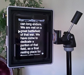 Padcaster as a Teleprompter
