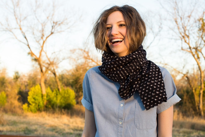 coffee dot small scarf