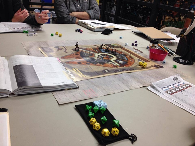 Star Wars: Edge of the Empire gaming at our secret lair.