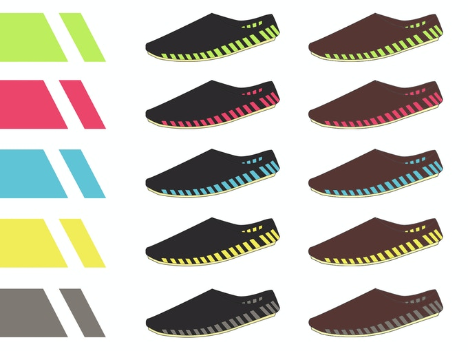 Color illustration for the shoelaces