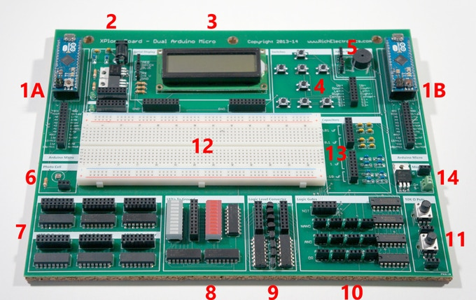Portable dual arduino tm micro xplorerboard by rich