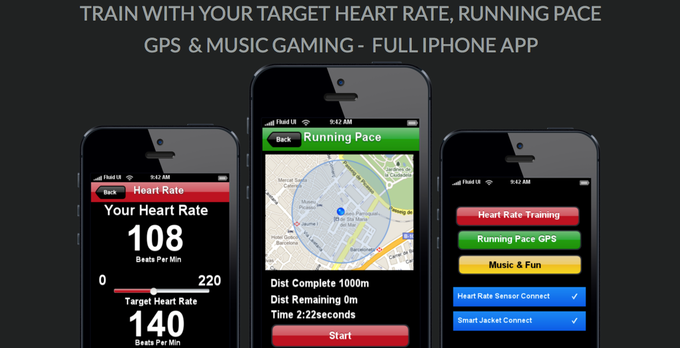 Iphone App With Heart Rate, GPS, Music & Gaming