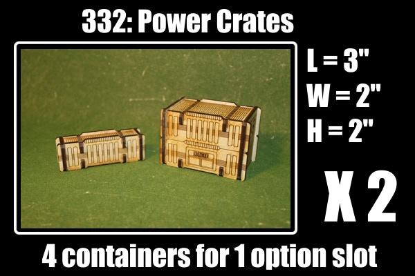2 supply crates + 2 power crates for 1 option slot