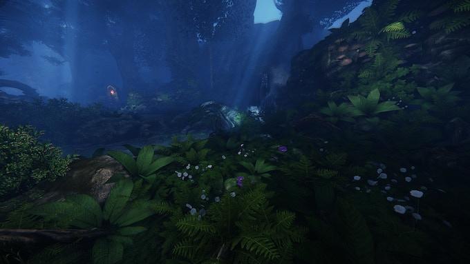 In-game screenshot: A river runs through Titanwood