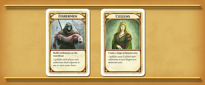 Two Kingdom Builder cards from the base game.
