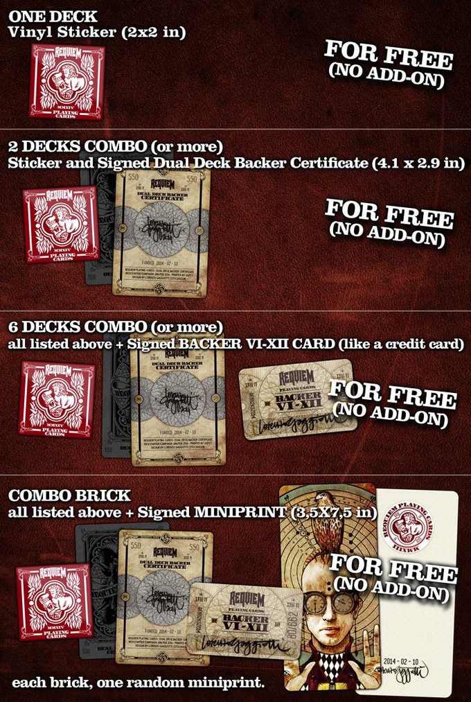 requiem playing cards deck  printeduspccrequiem