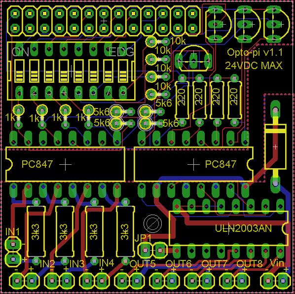Opto Pi An Opto Isolator Board For The Raspberry Pi By