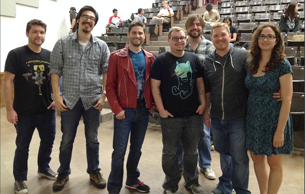 Team Juggernaut! Left to right: John, Rocky, Ben, Tony, Jason, George, and Elena *not pictured: Asa (he's shy)