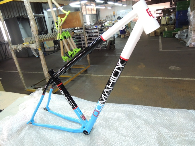 First painted prototype, August 2012 (the light blue is lighting and camera, the bike was never that light in person)