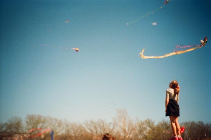 Child at Zilker Kite Festival in Austin, TX