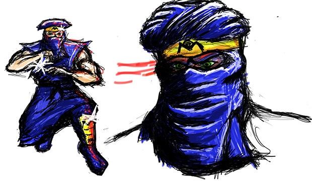 Ninja Dragon Terrorist concept art