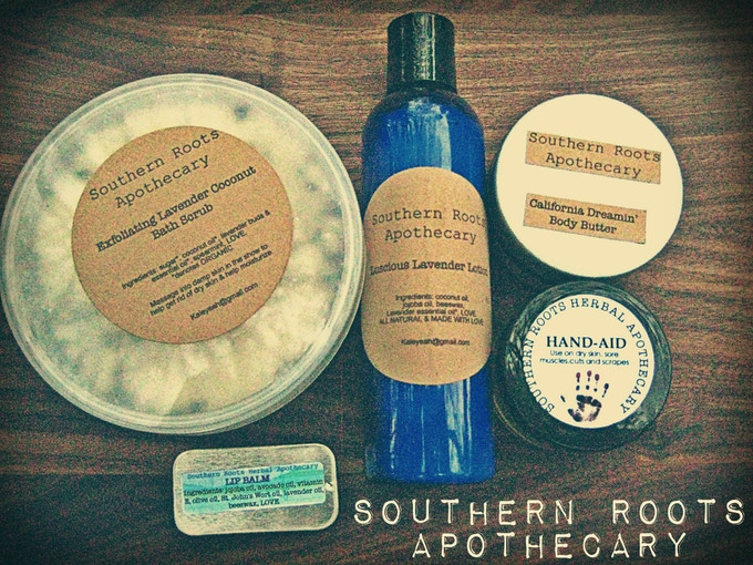 Southern Roots Apothecary- Herbal Body Package from Whetherman percussionist JP Salvat and Mariah Salvat.