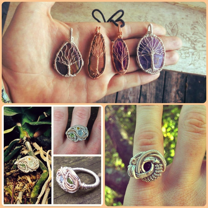 Radfabrications wire-wrapped Jewelry from Ryan Sullivan- Previous Whetherman Live Artist