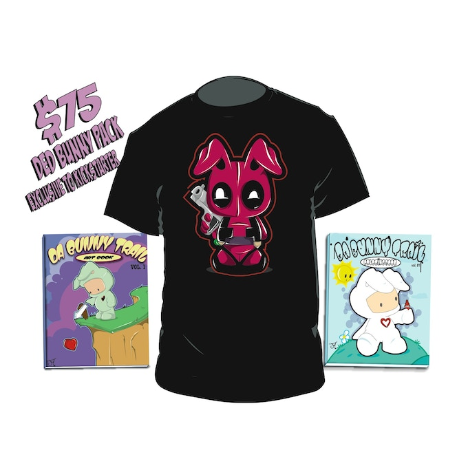 DED BUNNY T-SHIRT, Da Bunny Trail Pack. LIMITED TO ONLY 40