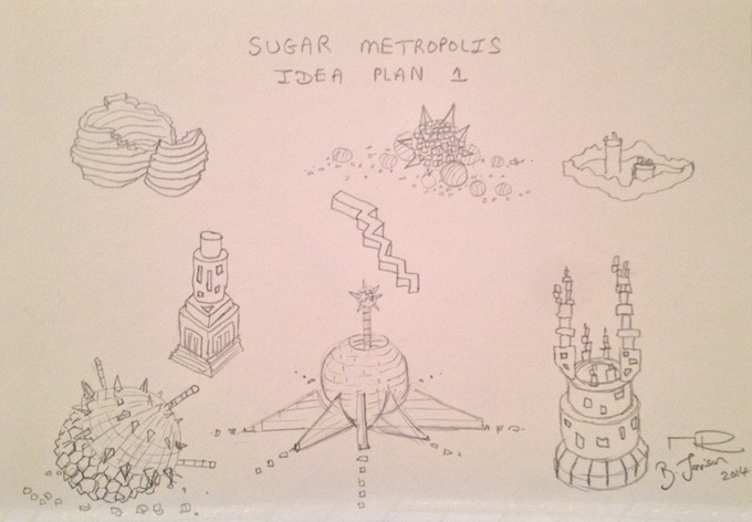 New York Sugar Metropolis Drawing Plan 1 by Brendan Jamison and Mark Revels (for £60 pledge)