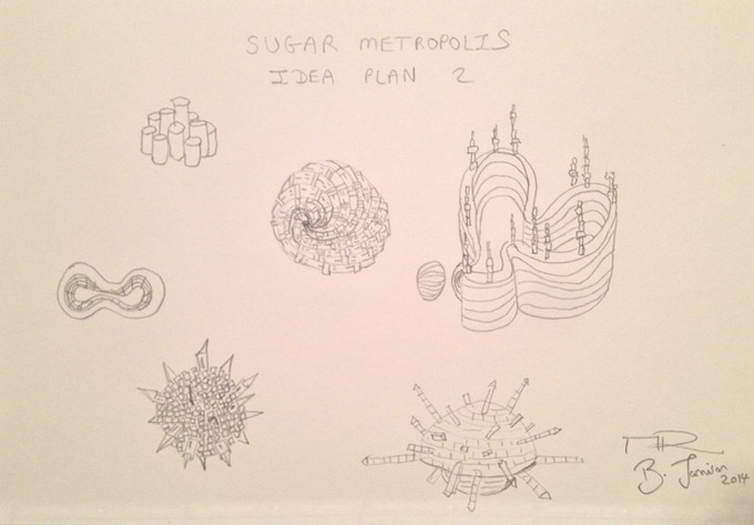 New York Sugar Metropolis Drawing Plan 2 by Brendan Jamison and Mark Revels (for £60 pledge)