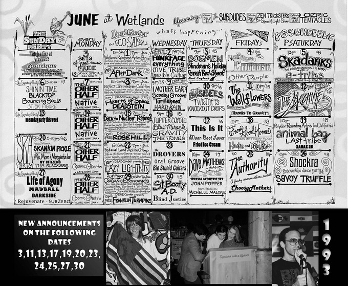 Right Side /Many Bands ANNOUNCED for the first time SEE BOTTOM OF THIS SCROLL FOR THE ORIGINAL CALENDAR FOR COMPARISON