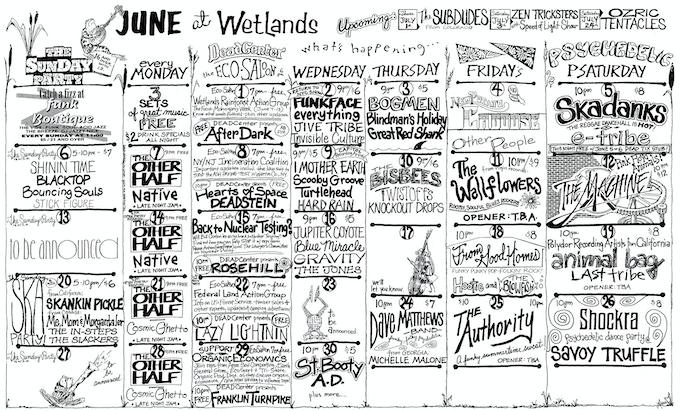 Original June 1993 Calendar, unedited