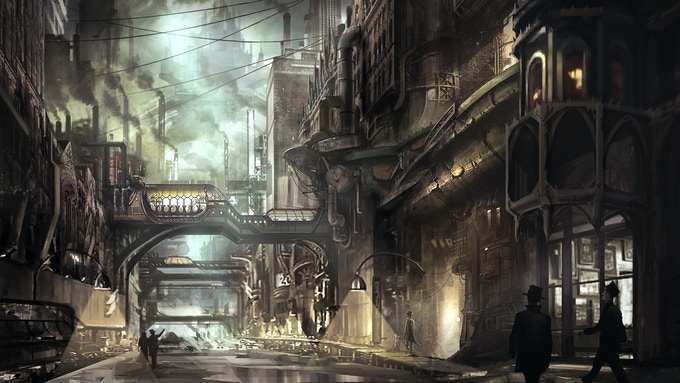 An Example of a Steampunk Setting