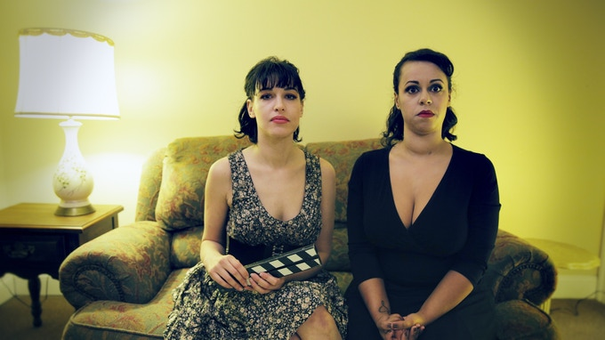 Jocelyn and Lindsey before a take for the Kickstarter campaign video!