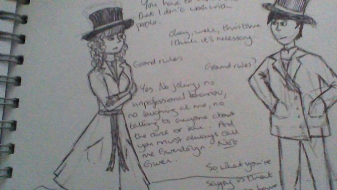 Sketches of Gwendolyn & Mattlock
