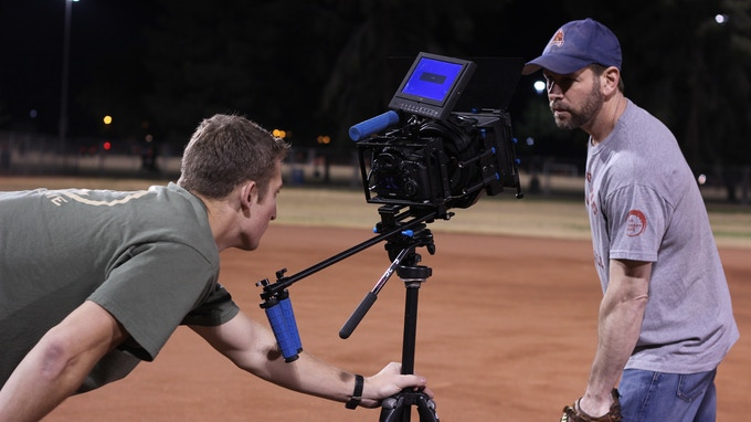 DP Nick Fornwalt filming the teaser trailer with actor Michael Hanelin