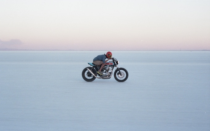 Deus W650 on the flat at Bonneville, Utah