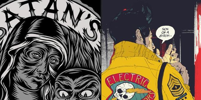 Tom J Newell - Satan's Mothers (crop)   //   Boneface - The Electric Eliminators  (crop)