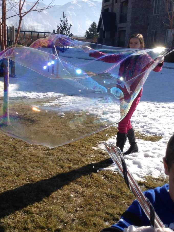 Bubble magic all year round in Spanish Fork, Utah!