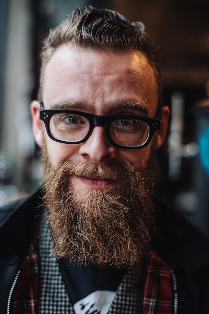 Photographer, Roo Lewis captures Dave's almighty beard for his article on independent brewing company, BrewDog.