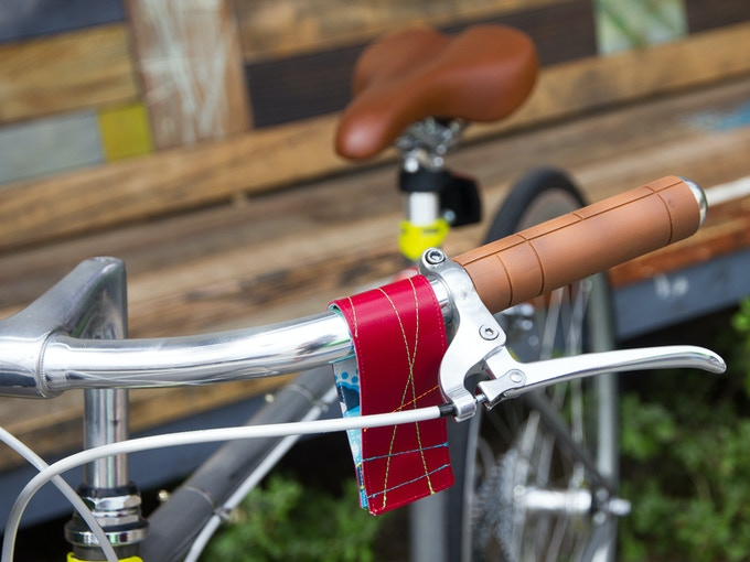 Fits on your handlebars or frame while you are not riding.