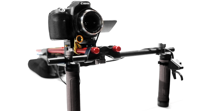 A shoulder mount with Silencer and mounted trigger
