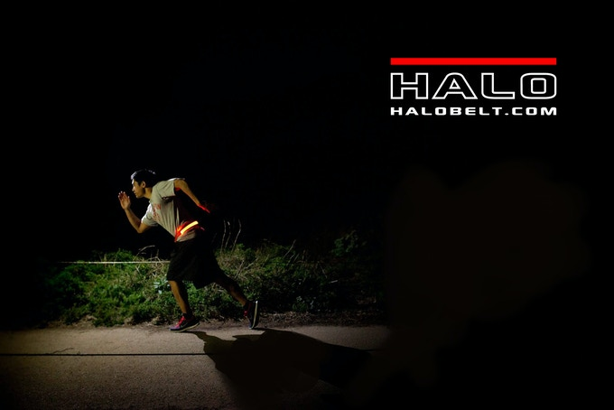 Halo belt keeps your night runs safe!