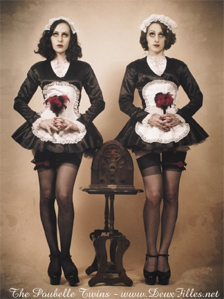 Our iconic French Maid dresses by Liz Fairbairn (photo by Danielle Bedics)